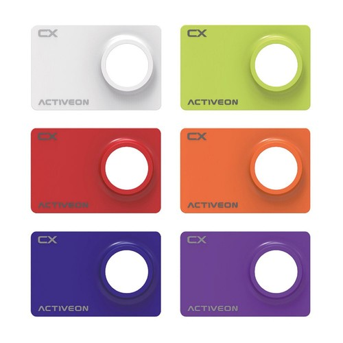 ACTIVEON CX Camera Multicolor Faceplates (6-Pack)