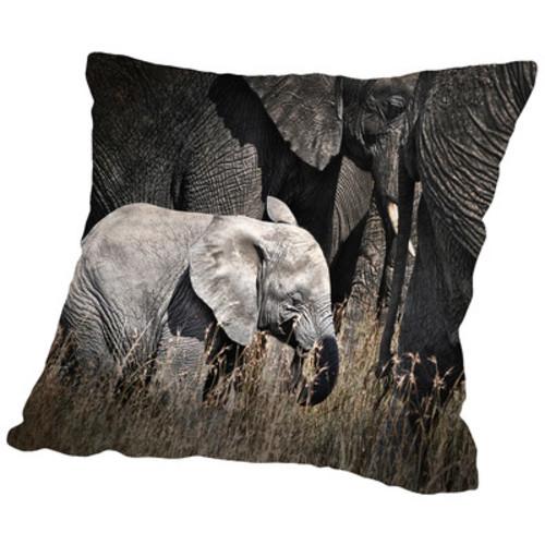 Baby Elephant I Throw Pillow