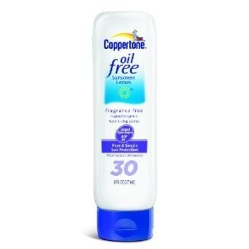 Coppertone sunscreen lotion, oil free, broad spectrum spf 30, 8 fl oz (237 ml)