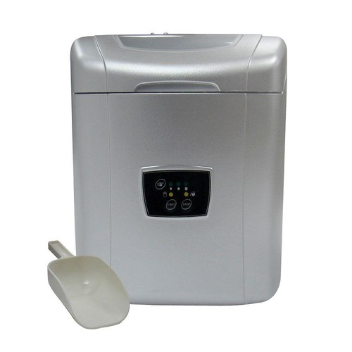 Vinotemp 26 lb. Portable Ice Maker in Silver