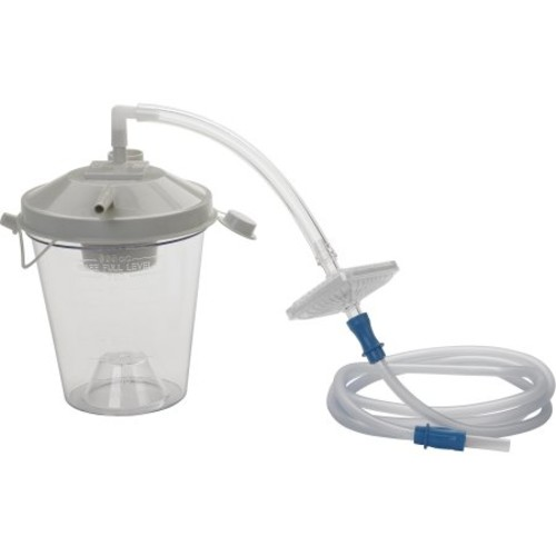 Drive Medical Universal Suction Machine Tubing and Filter Replacement Kit with Canister, Pack of 1