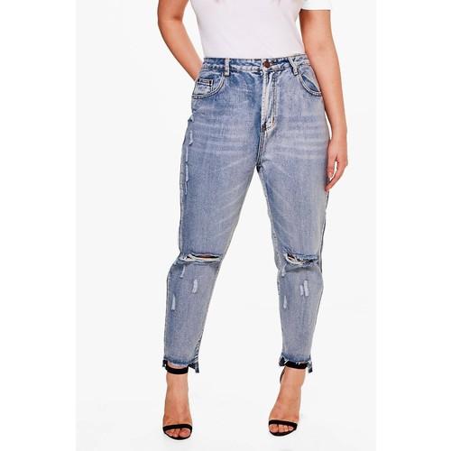 Plus Alicia Ripped Light Wash Skinny Jean