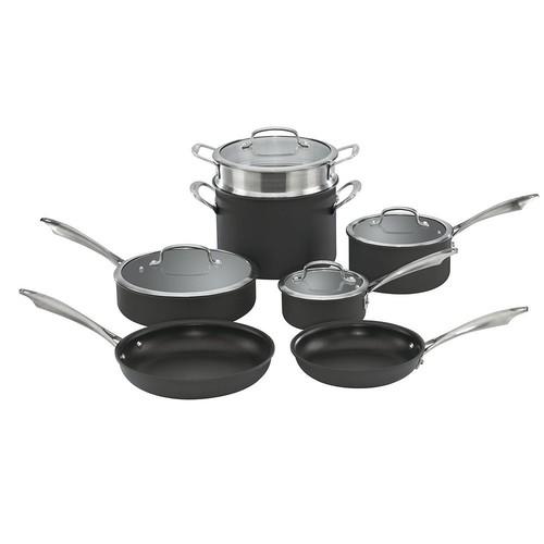 Cuisinart 11-pc. Hard-Anodized Nonstick Cookware Set