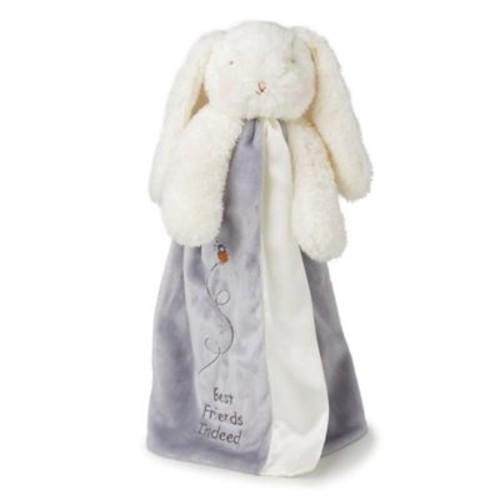 Bunnies By The Bay Bloom Bunny Buddy Blanket in Grey