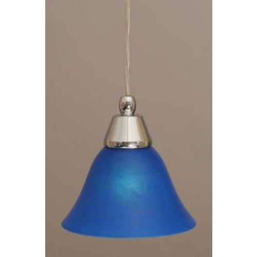 Toltec Lighting 1-Light Mini Pendant; Chrome