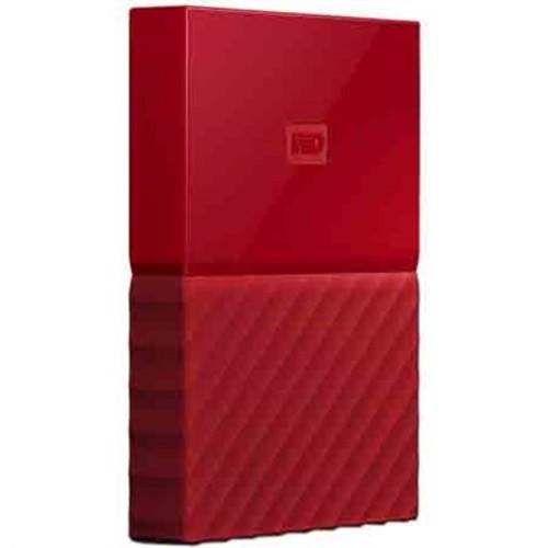 Western Digital WD 1TB My Passport Portable Hard Drive - Red