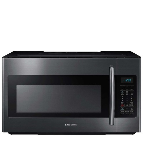 Samsung 1.8-Cu. Ft. Over-the-Range Microwave -Black Stainless