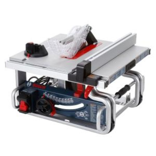 Bosch 15 Amp Corded 10 in. Worksite Portable Bench Table Saw with Smart Guard System and 24-Tooth Carbide Saw Blade