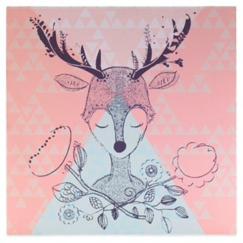 Lolli Living by Living Textiles Mix & Match Deer Canvas Wall Art in Pink