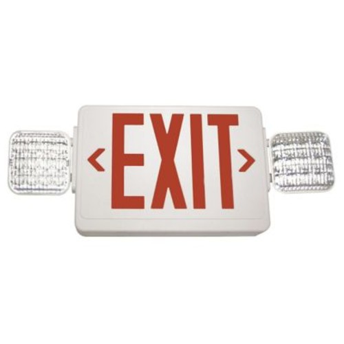 Barron Lighting Exitronix Exit/LED Emergency Combo Light; Red