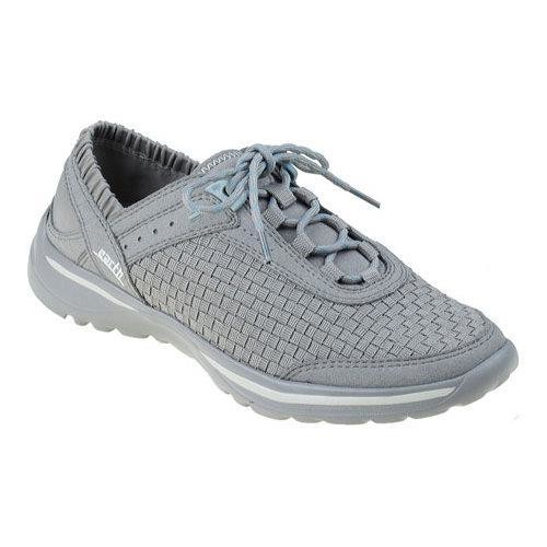 Women's Earth Agile Lace Up Shoe Light Grey Multi Woven Fiber
