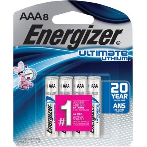 Energizer Ultimate Lithium Battery, AAA, 8/Pack