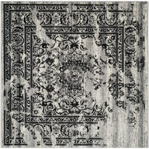 Safavieh Adirondack Silver/Black 8 ft. x 8 ft. Square Area Rug