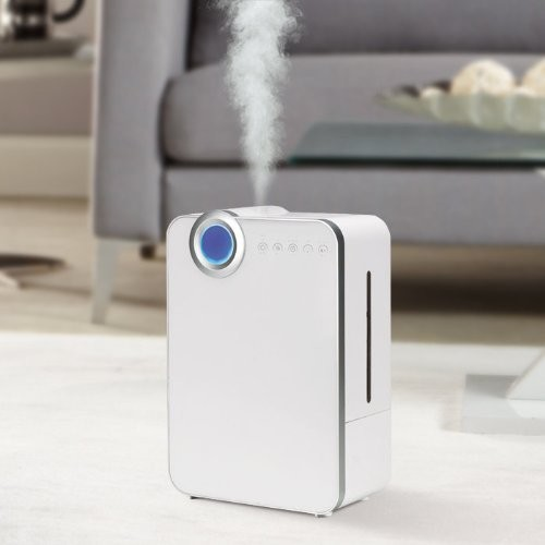 PureGuardian 12.5L Output per Day Ultrasonic Warm and Cool Mist Humidifier, Large Room, Home, Office, Bedroom, Extended Reach,Easy Quiet Operation, Night Light, Timer, Auto Shut-Off, Pure Guardian H7500