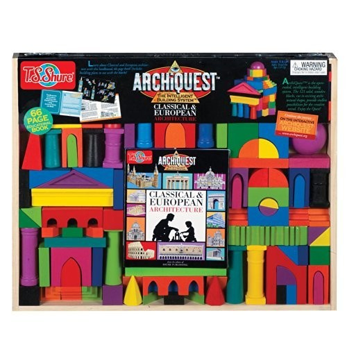 T.S. Shure ArchiQuest Classical & European Architecture Wooden Building Blocks