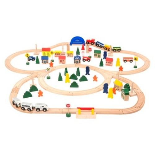Battat All Aboard Deluxe Wooden Train Set
