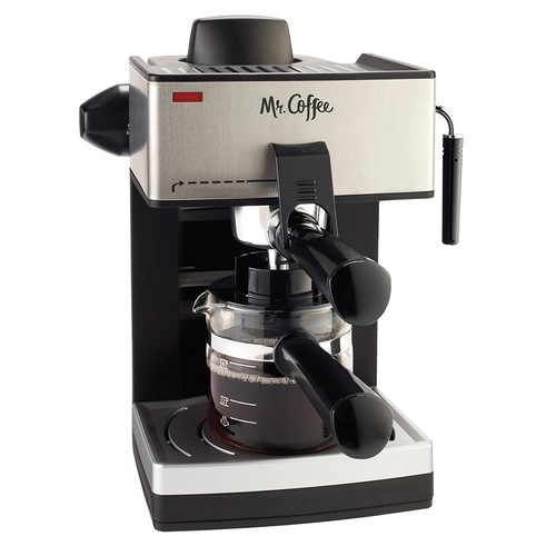 Mr. Coffee 4-Cup Steam Espresso System with Milk Frother [Standard]