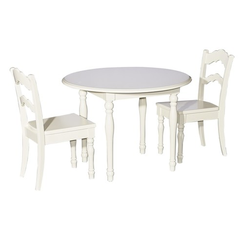 Powell Kids' Table & Chair Sets Kids White Table and 2 Chairs
