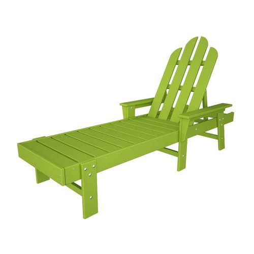 POLYWOOD ECC76LI Long Island Chaise, Lime [Lime]