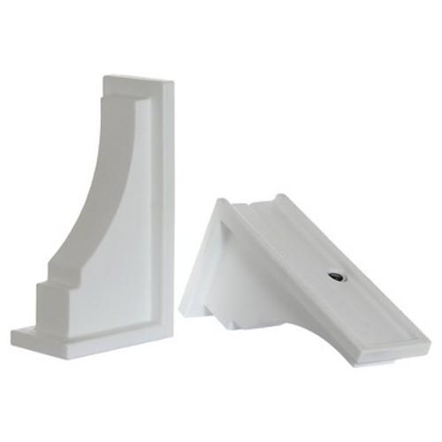 Mayne Inc Fairfield Decorative Brackets, 2-pack, White [White]
