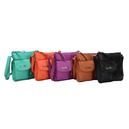 Ann Creek Women's 'Larchmont' Leather Satchel Bag