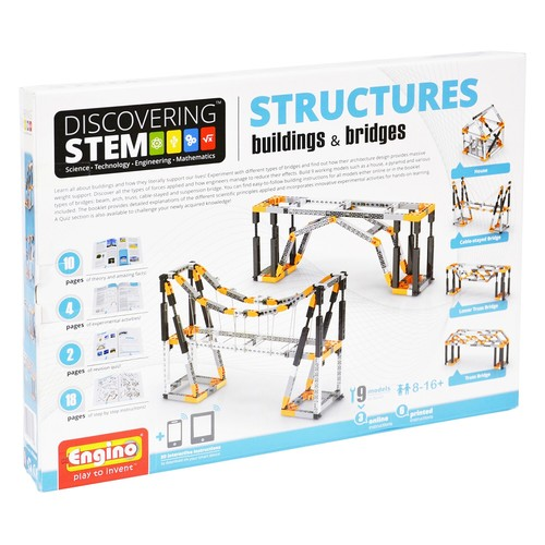 Engino STEM Mechanics Buildings & Bridges Kit