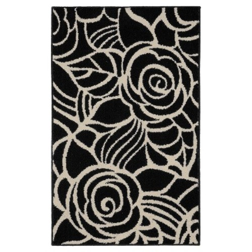 Garland Rug Rhapsody Black/Ivory 2 ft. 6 in. x 3 ft. 10 in. Accent Rug