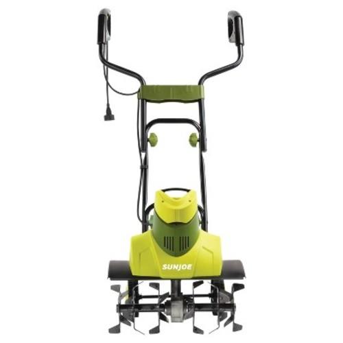 Sun Joe Max 9-Amp Electric Garden Tiller and Cultivator - Green