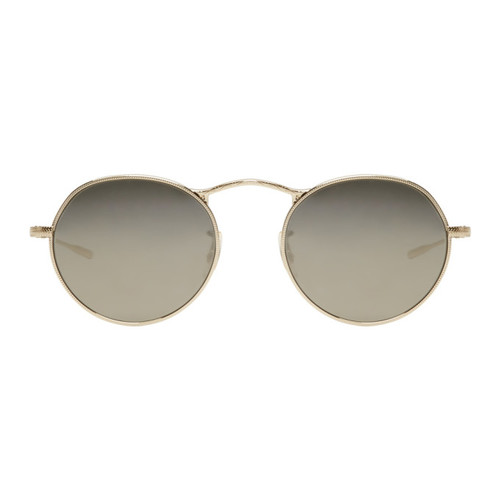 OLIVER PEOPLES Gold & Grey M-4 30Th Sunglasses