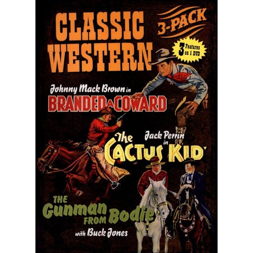 Classic Western 3-Pack: Branded a Coward/The Cactus Kid/The Gunman from Bodie [DVD]