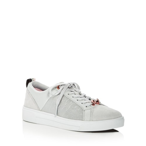 TED BAKER Women'S Kuleib Leather & Suede Lace Up Sneakers