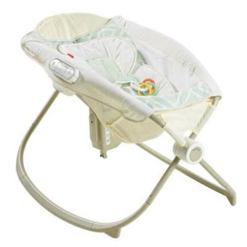 Fisher-Price Smart Connect Newborn Auto Rock N Play Sleeper, Geometric (DNK64)