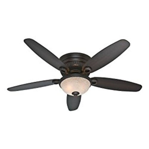 Hunter Fan Company 53253 Ashmont 52-Inch Onyx Bengal Ceiling Fan with Five Dark Walnut/Cherry Blades with a Light Kit [Brown]