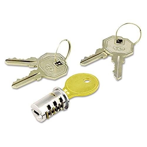 Alera ALEKCSDLF Key-Alike Lock Core Set, Brushed Chrome