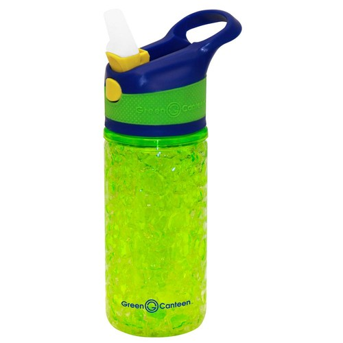 Green Canteen 12 oz. Blue and Green Double Wall Plastic Tritan Hydration Bottle with Crackle Freeze Gel (6-Pack)