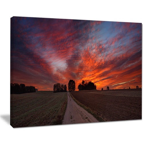 Pathway to Fairy Autumn Sky - Landscape Print Wall Artwork