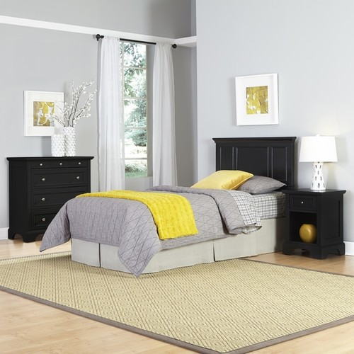 Bedford Twin Headboard, Night Stand, and Chest by Home Styles