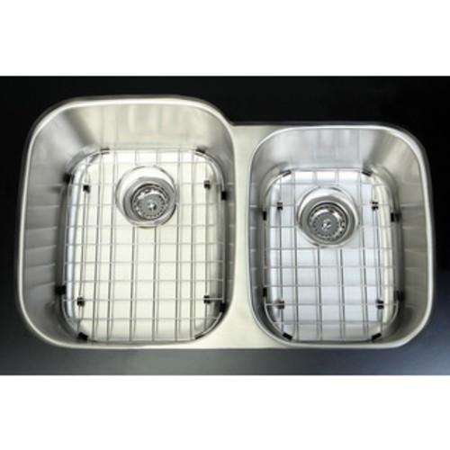 Stainless Steel 31.5-inch Undermount Double Bowl Kitchen Sink