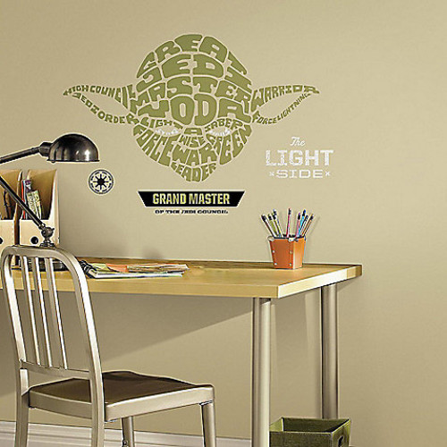 Disney Star Wars Typographic Yoda Giant Peel and Stick Wall Decals