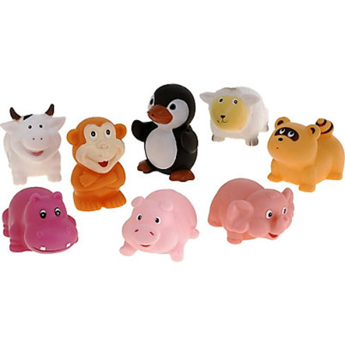 Elegant Baby Animal Party Bath Squirties Toy Set