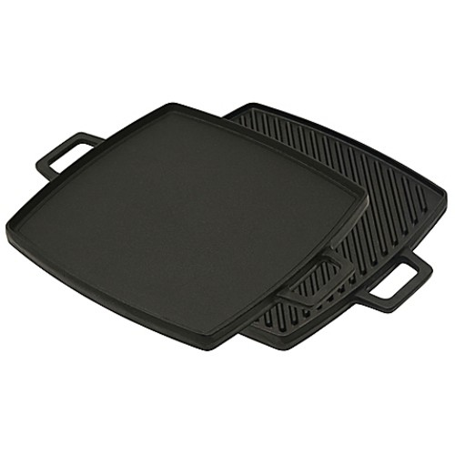 Bayou Classic Cast Iron 10.5-Inch Reversible Stovetop Grill/Griddle