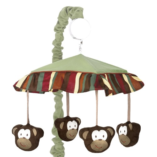 Sweet Jojo Designs Monkey Collection Musical Mobile