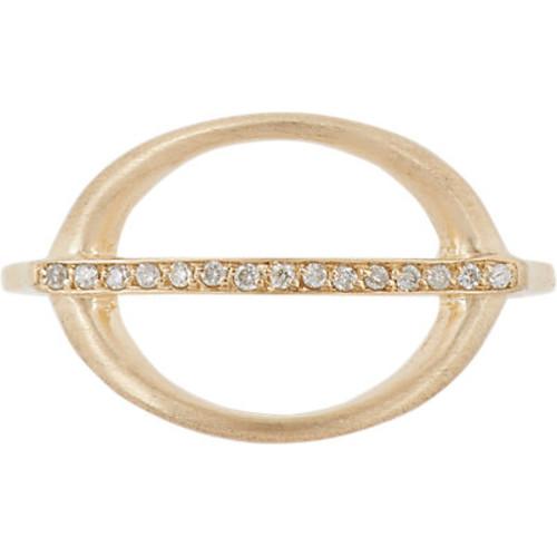 Jennie Kwon Pav Diamond & Gold Ring