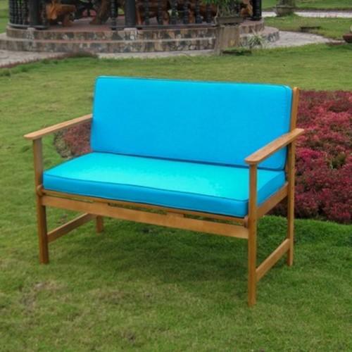 International Caravan Royal Tahiti Shorea Wood 2-Seater Patio Bench