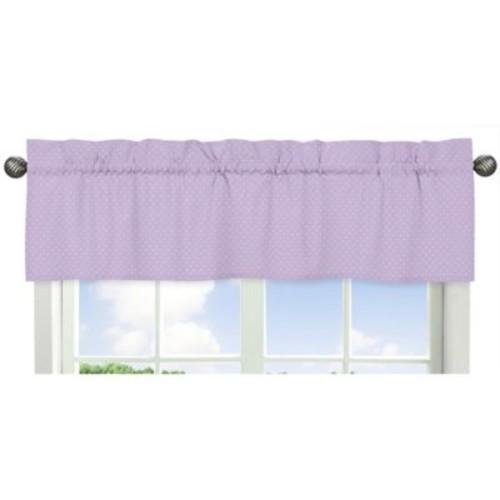 Sweet Jojo Designs Mod Dots Mini Dot Print Window Valance in Purple