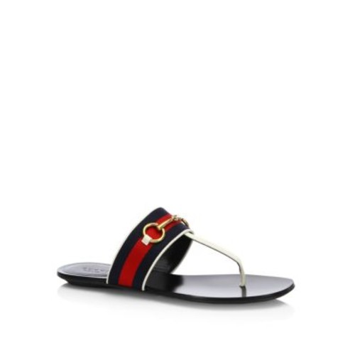 GUCCI Querelle Web Thong Sandals