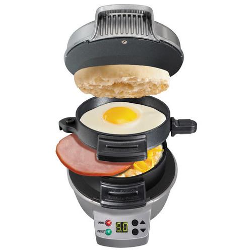 Hamilton Beach - Breakfast Sandwich Maker - Black/Silver