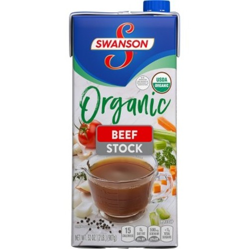 Swanson Organic Beef Cooking Stock 32 oz