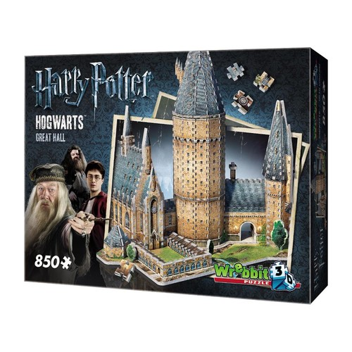 Wrebbit Puzzles Harry Potter Hogwarts Great Hall 3D Jigsaw Puzzle - 850-Piece