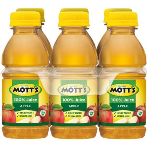 Mott's 100% Juice, Apple, 8 Fl Oz, 6 Count